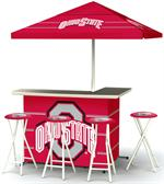 Ohio State Buckeyes Deluxe Portable Tailgate Bar Set