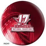 Alabama 2017 National Champions Bowling Ball Front View