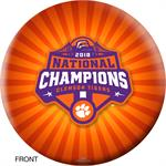 Clemson Tigers 2018 National Champions Bowling Ball - Front View