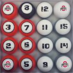 Ohio State Buckeyes Numbered Pool Balls