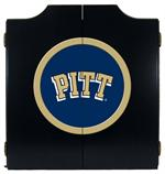 Pittsburgh Panthers Black Dart Board Cabinet