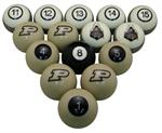 Purdue Boilermakers Numbered Pool Balls