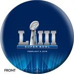 New England Patriots Super Bowl LIII Champions Bowling Ball, Front View