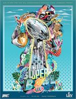 Official Super Bowl LIV Holographic Stadium Version Program