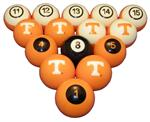 Tennessee Volunteers Numbered Pool Ball