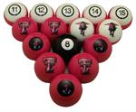 Texas Tech Red Raiders Numbered Pool Balls
