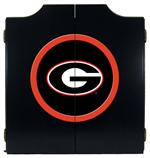 Georgia Bulldogs Black Dart Board Cabinet
