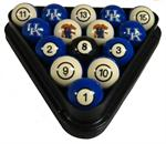Kentucky Wildcats Numbered Pool Balls
