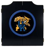 Kentucky Wildcats Cat Logo Black Dart Board Cabinet