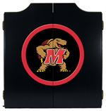 Maryland Terrapins Black Dart Board Cabinet