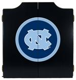 North Carolina Tar Heels Black Dart Board Cabinet