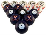 Virginia Cavaliers Numbered Pool Balls