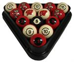Wisconsin Badgers Numbered Pool Balls