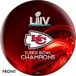 Kansas City Chiefs Super Bowl LIV Champions Bowling Ball - Red - Front View