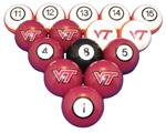 Virginia Tech Hokies Numbered Pool Balls