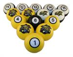 Wichita State Shockers Numbered Pool Balls