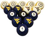 West Virginia Mountaineers Numbered Pool Balls